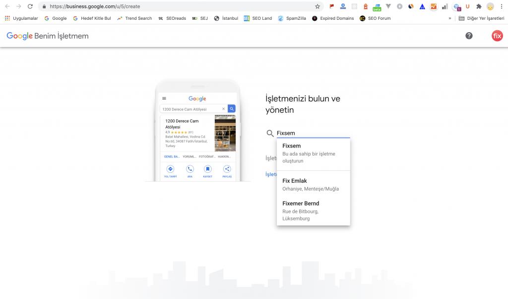 Google Benim İşletmem giriş